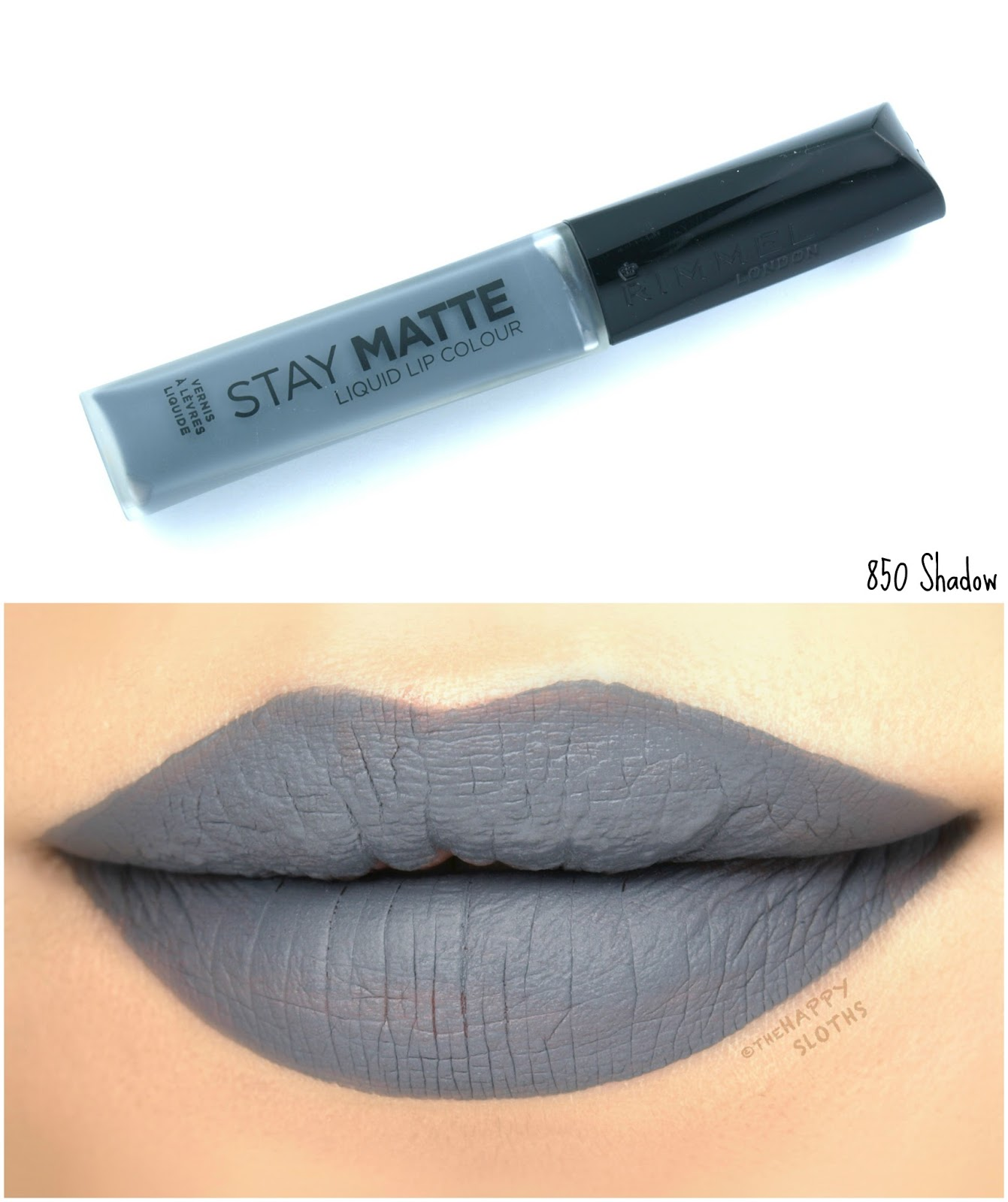 Rimmel London Stay Matte Liquid Lip Colour | 850 Shadow: Review and Swatches