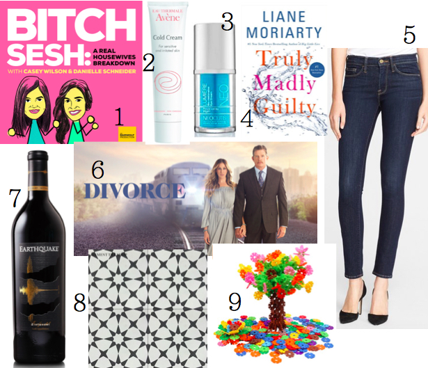 1. I have taken my Housewives fandom to a new level and started listening to the Bitch Sesh Podcast each week. The hosts (Casey Wilson from SNL and Happy ...