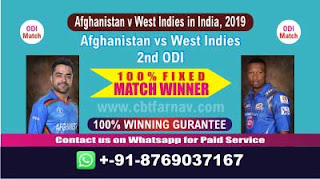 2nd ODI WI vs AFGH Match Prediction Today Afghanistan v West Indies in India, 2019