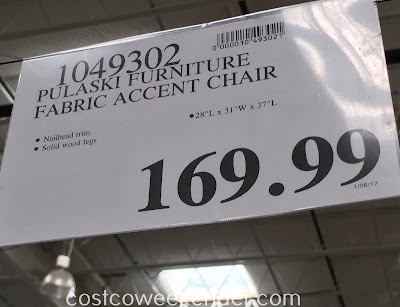 Deal for the Pulaski Furniture Fabric Accent Chair Costco