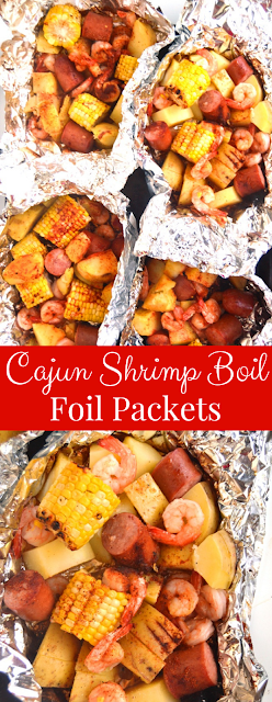 Cajun Shrimp Boil Foil Packets recipe