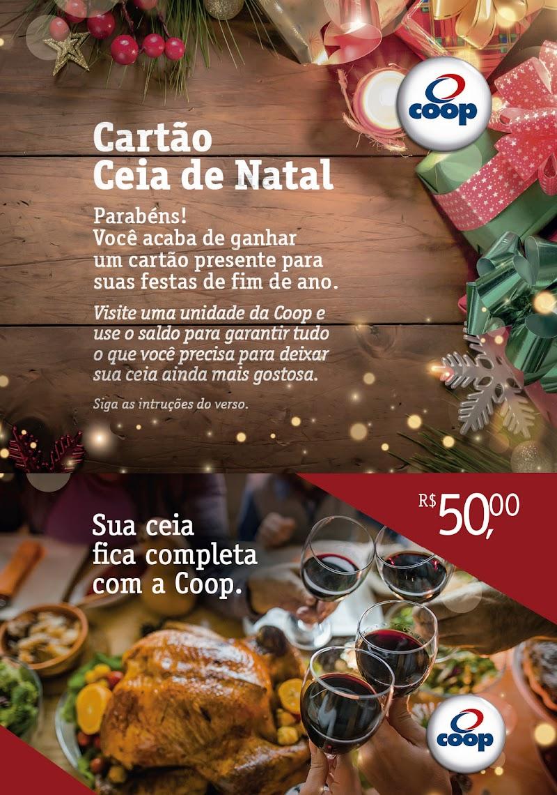 Coop lança gift card Ceia de Natal e disponibiliza pratos prontos natalinos