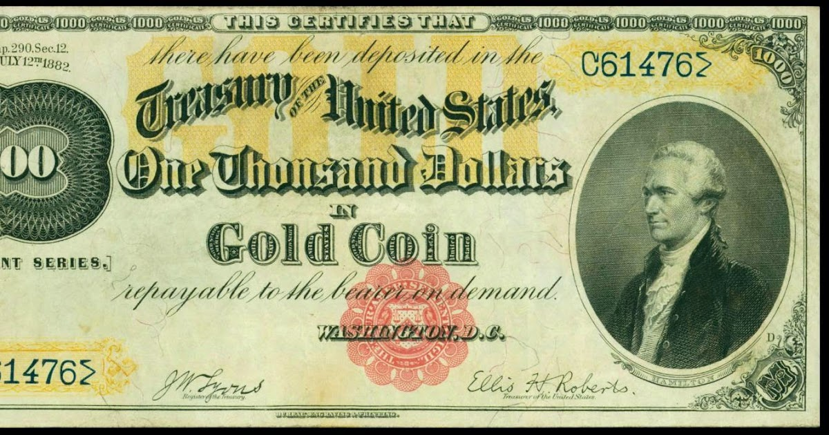 1882 1000 Dollar Gold Certificate World Banknotes Amp Coins Pictures Old Money Foreign