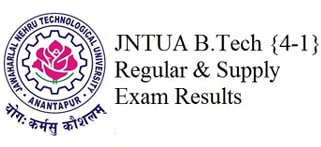 JNTUA 4-1 Results, JNTU Anantapur Results, Jntua 4th year 1st sem Results 2015 Nov December
