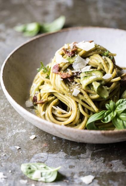 Avocado Zucchini Carbonara