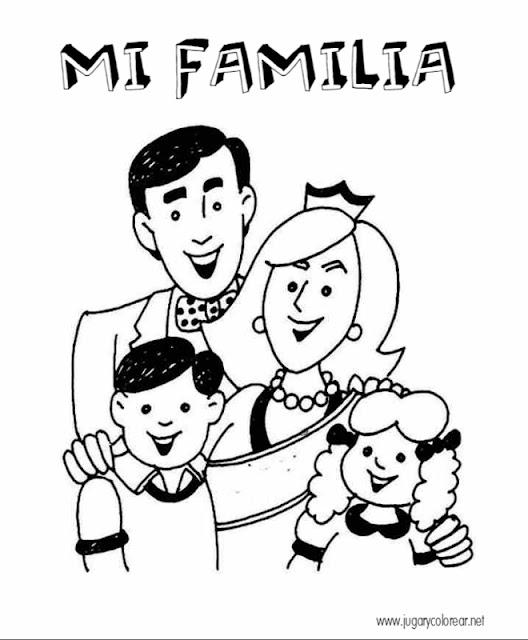 Día de la familia dibujos para colorear