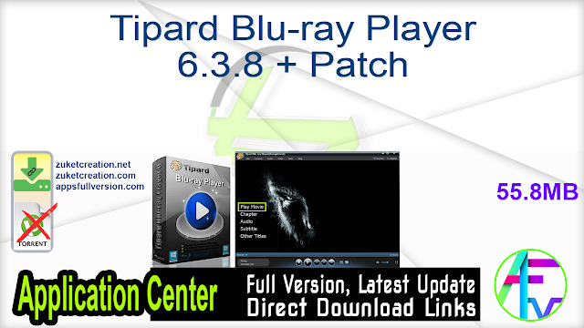 Tipard Blu-ray Player 6.3.8 + Patch