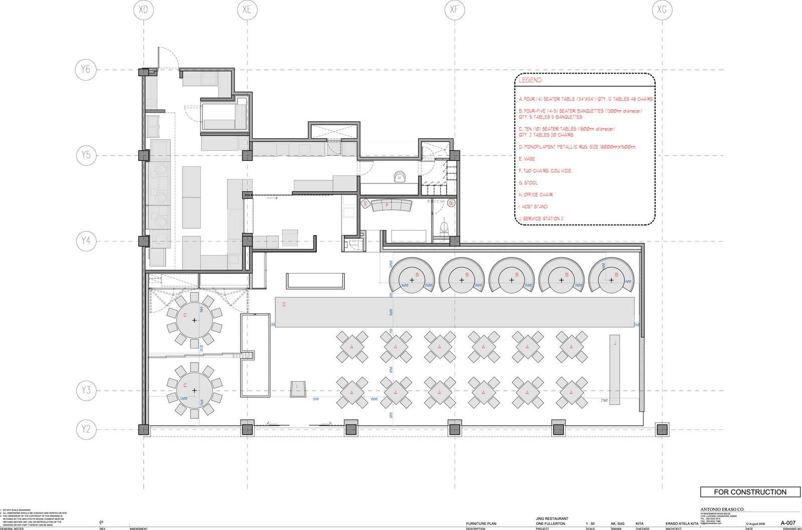 Blueprints For Restaurant Free