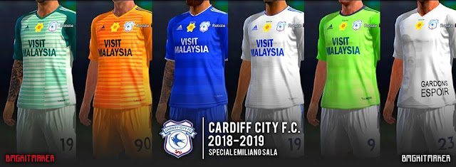 Cardiff City 2018 19 Full Kits Pes 2013 Patch Pes New Patch