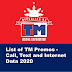 List of TM Promos - Call, Text and Internet Data 2020