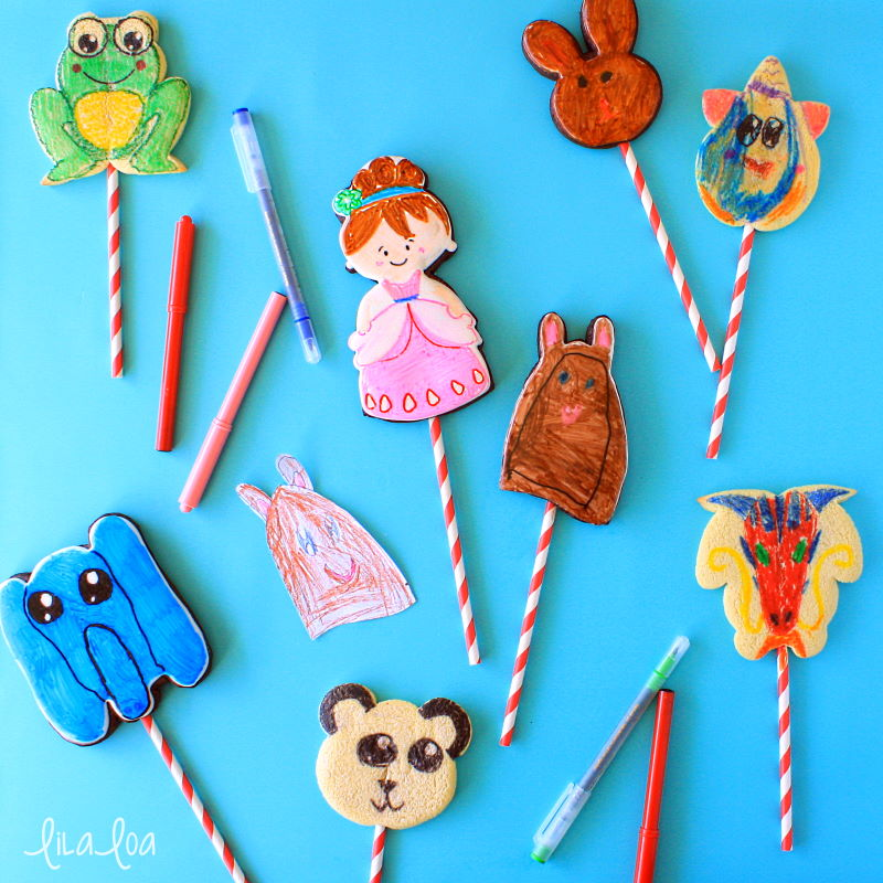 sugar cookie puppet decorating tutorial