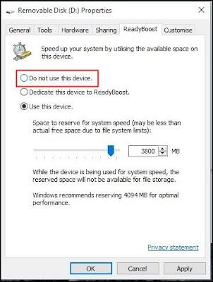 Untuk mengembalikan perubahan, pilih 'Jangan gunakan perangkat ini'