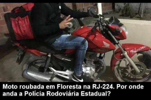 Viu esta moto. Informe urgente a PM. Ligue 190