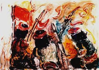 "Pelukis : Afandi Tahun: 1972 Judul : "" Para Pejuang """