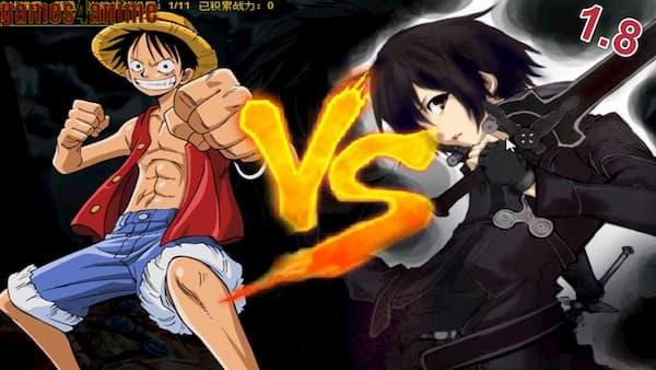 اصدار اخر من لعبة قتال ابطال الانمي الياباني 1.8 Anime Battle 3D