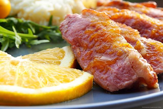 Pierś z kaczki z sosem pomarańczowym