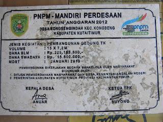 Produk Grafir Prasasti Marmer PNPM Kabupaten Kutai Timur