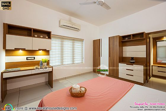 Pink bedroom interior photograph