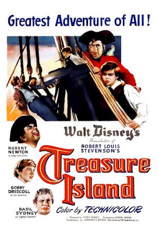 Poster Of Treasure Island 1950 In Hindi Bluray 720P Free Download