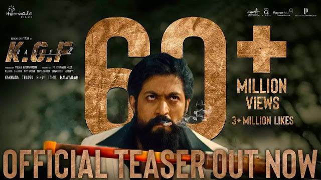 Kgf Chapter 2 Teaser official out Now, What about Release Date IN 2021?