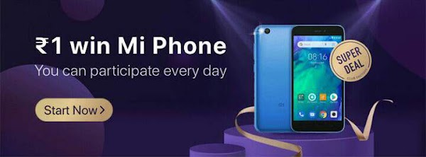 Club factory 1 Rupee sale [back] - get a chance to win Redmi go smart phone in just Rs 1.