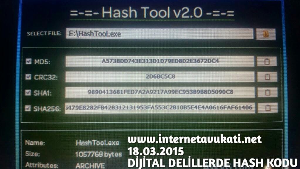 Dijital delillerde HASH kodu