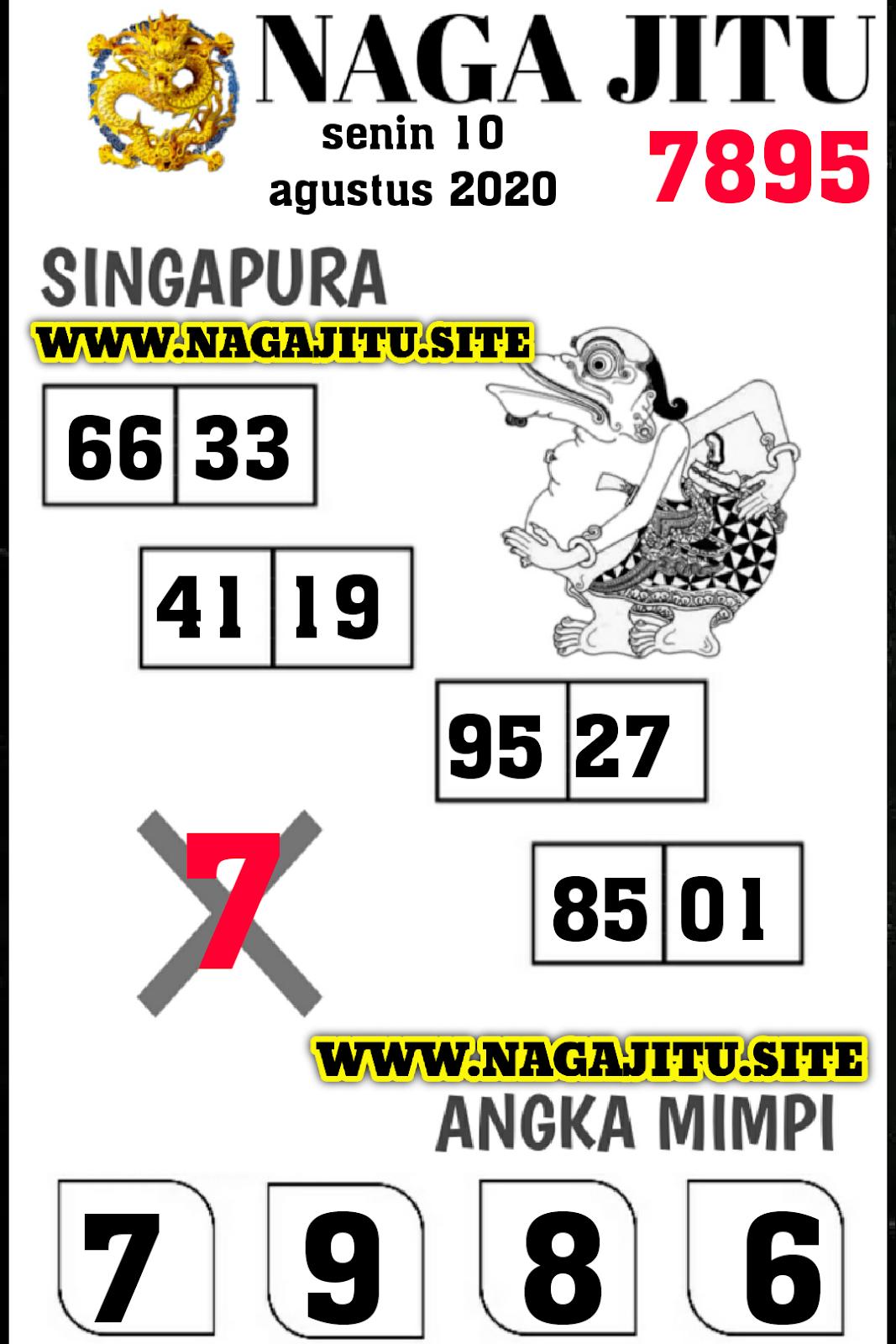 SYAIR NAGA SINGAPURA SENIN 10 AGUSTUS 2020