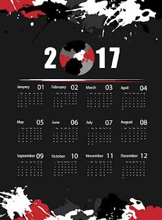 2017カレンダー無料テンプレート193