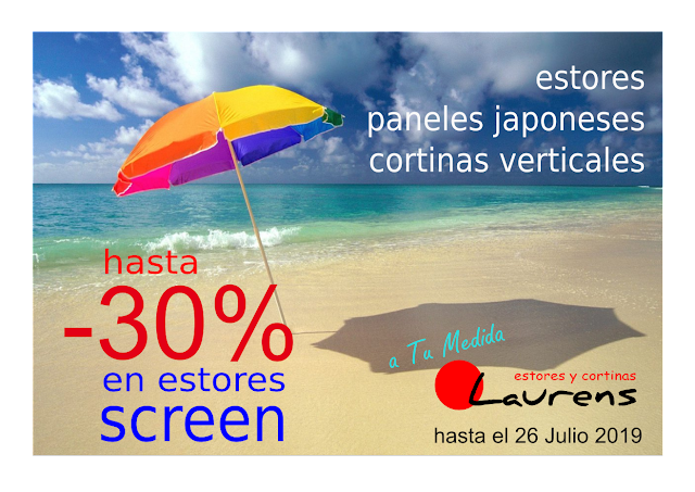 REBAJAS ESTORES SCREEN -30% EN VALENCIA