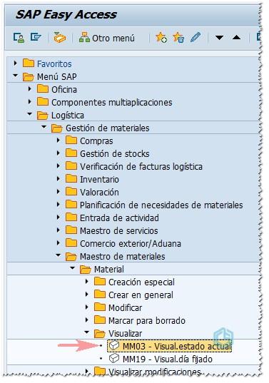 Arbol transacciones SAP ERP - Consultoria-SAP