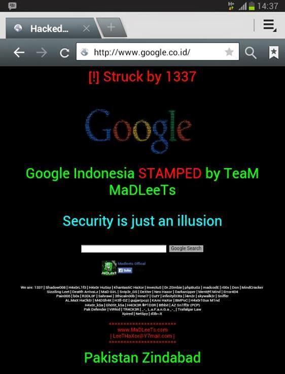 Google Indonesia Dibajak !