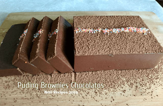 Puding Brownies Chocolatos @Netirecipes 2019