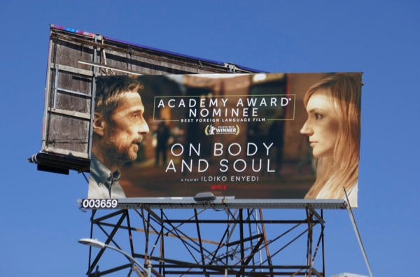 On Body and Soul Oscar nominee billboard