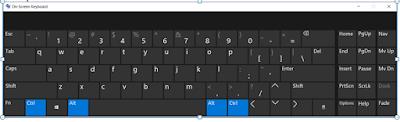 Add a virtual keyboard in Windows 10. Amazing feature.