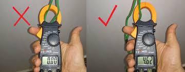 كيفية استخدام الكلامبميتر بطريقة صحيحه لقياس الامبير