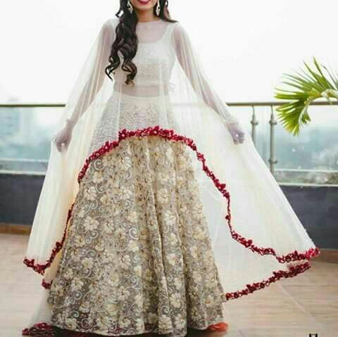 Cape Are Like The Hottest Trend In Ethnic Wear These Days They Everywhere Indian Wedding Guest Dresses From Lehengas To Gowns Sarees