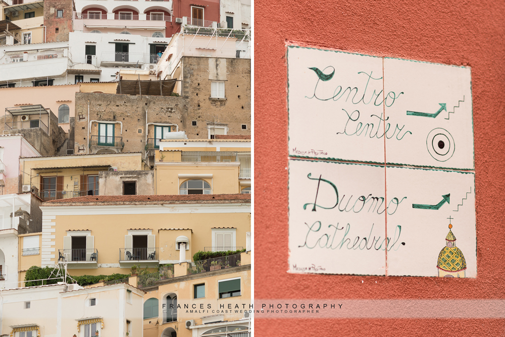Details wedding in Positano