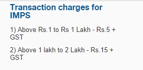 Little Savings - HDFC IMPS Charges