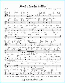 chord about a quarter to nine 1 lagu jazz standar