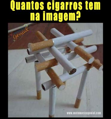 Teste de visão - Quantos cigarros tem na imagem?