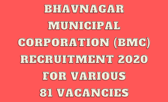 (BMC) Recruitment 2020