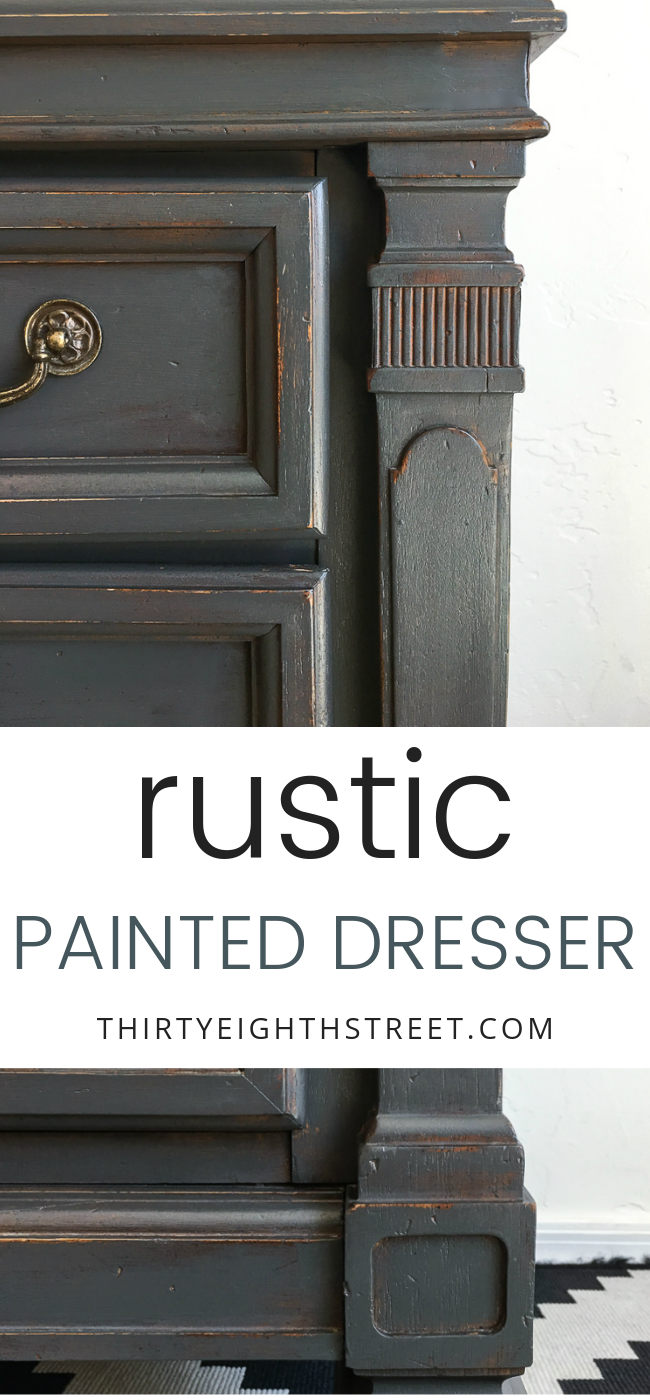 rustic grey painted dresser