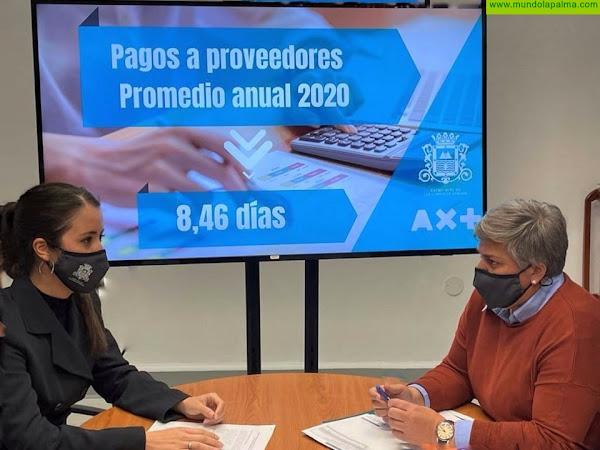 El Ayuntamiento de Los Llanos de Aridane concluye el 2020 con un período medio de pago a proveedores de 8 días