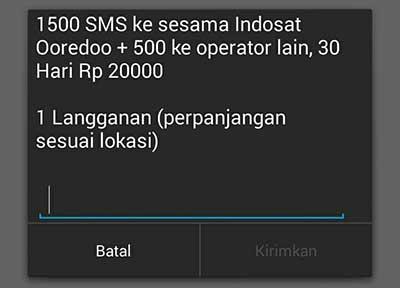 Cara Beli Paket SMS Indosat Ooredoo ke Semua Operator