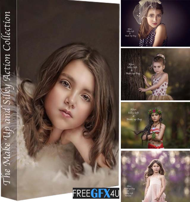 Make-Up Bag And Silky Photoshop Action Collection
