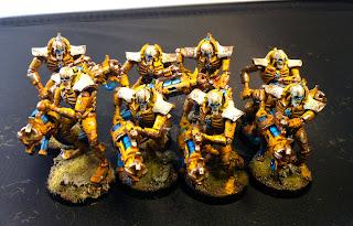 Dark Future Games: Yellow Necron Immortals march to War!