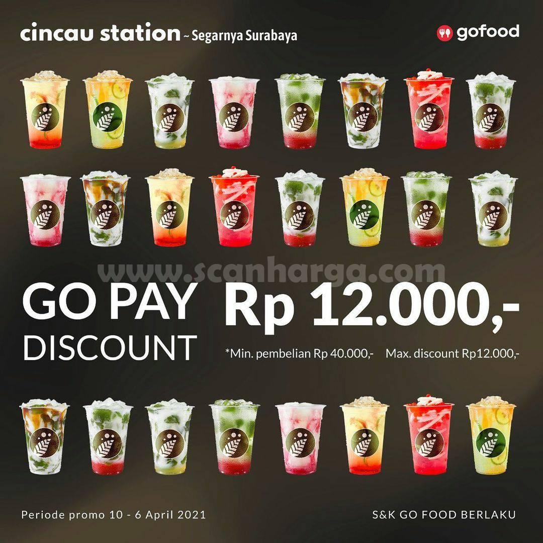 Cincau Station Promo GOPAY & GOFOOD! dapatkan Diskon Rp 12.000