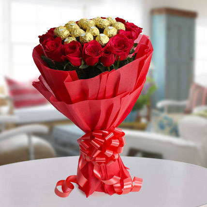 Valentines Day Gift For Girls Chocolate Bouquet