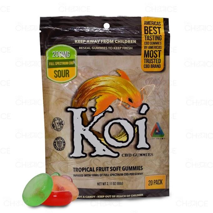 Koi CBD   Tropical Fruit Sour Gummies