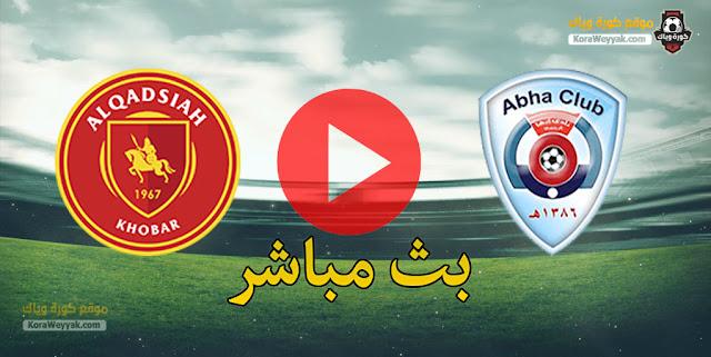 نتيجة مباراة أبها والقادسية اليوم في الدوري السعودي